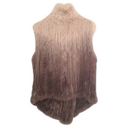 Oakwood  Fur vest in Taupe