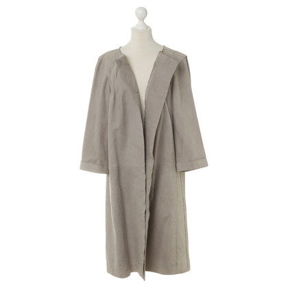 Alberta Ferretti Suede leather jacket in grey