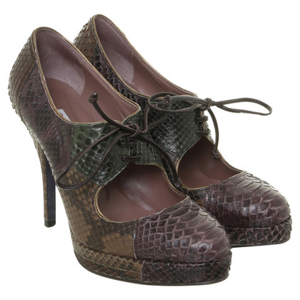 L'autre Chose Pumps Python leather