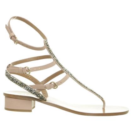 Valentino Sandals with Rhinestone trim
