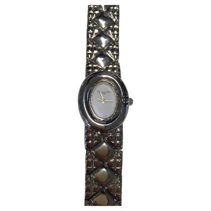 Christian Dior Silberfarbene Armbanduhr
