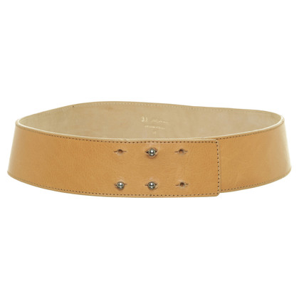 Philipp Plein Leather belt in Cognac