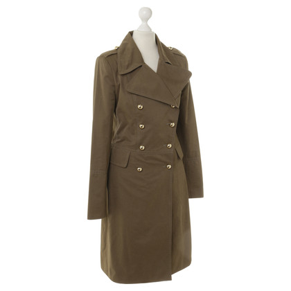 Dimitri Green coat with gold buttons