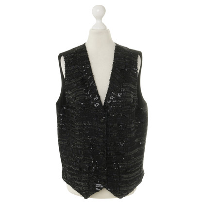 Chanel Sequin vest in black