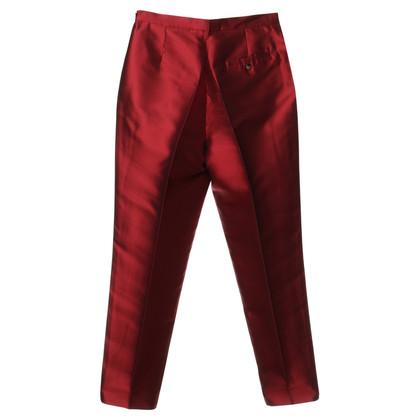 Jil Sander Zijde broek in het rood