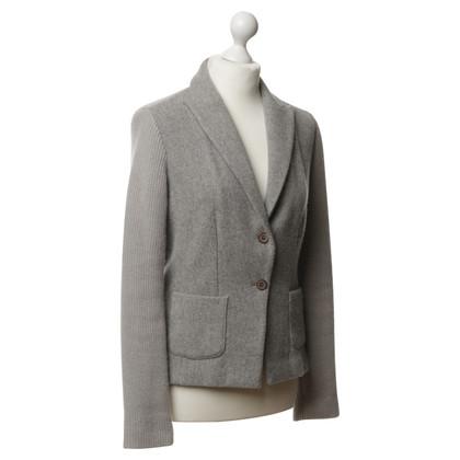 Fabiana Filippi Blazer in maglia grigio