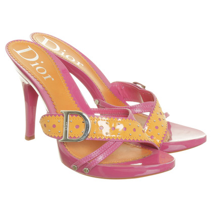 Christian Dior Sandaletten in Pink und Orange