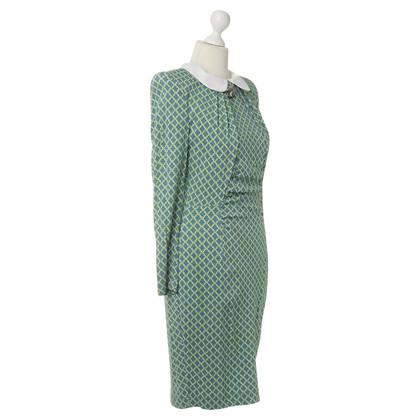 Thomas Rath Kleid mit Muster und Bubikragen