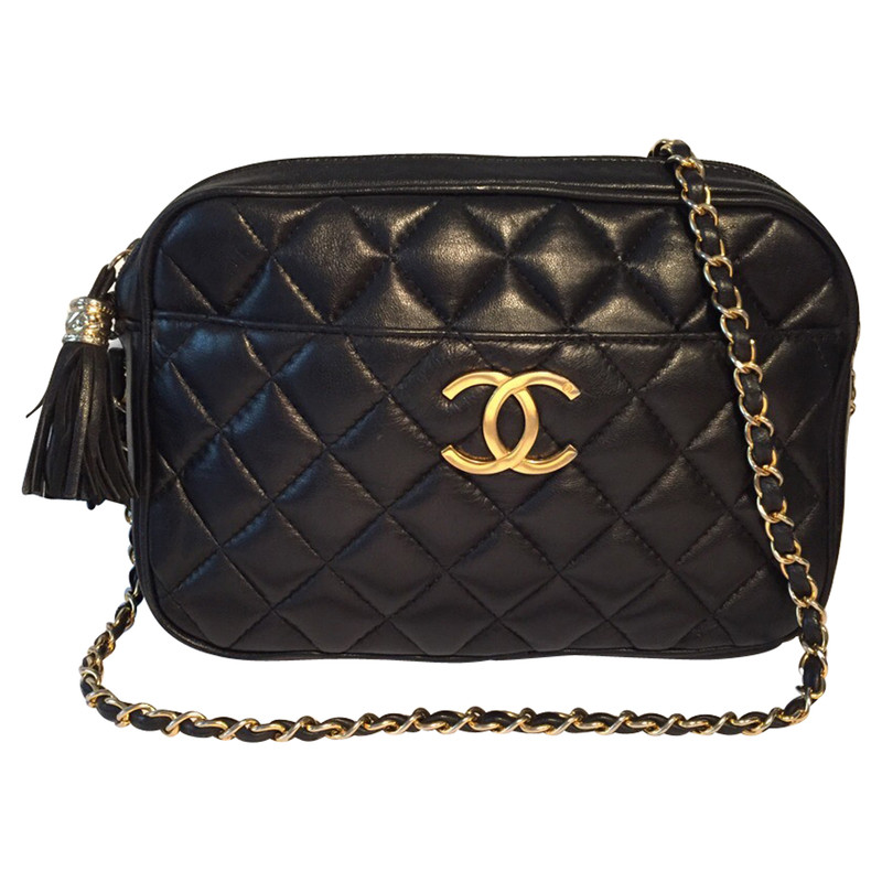 chanel tasche in stepp optik second hand chanel tasche. Black Bedroom Furniture Sets. Home Design Ideas