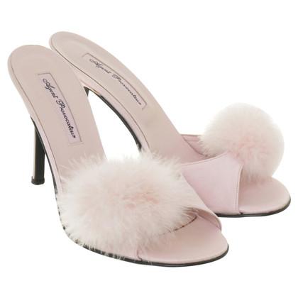Agent Provocateur Mules with feather pompons