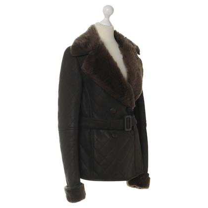 Loewe Brown lambskin leather jacket