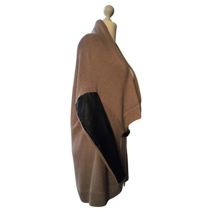 Maje Cardigan with leather applications