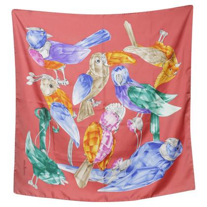 Swarovski Silk scarf with a bird motif