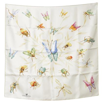 Swarovski Silk scarf with insect motif