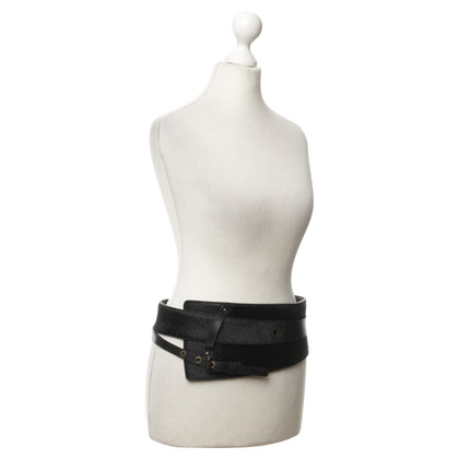 Hugo Boss Waist belt with real fur
