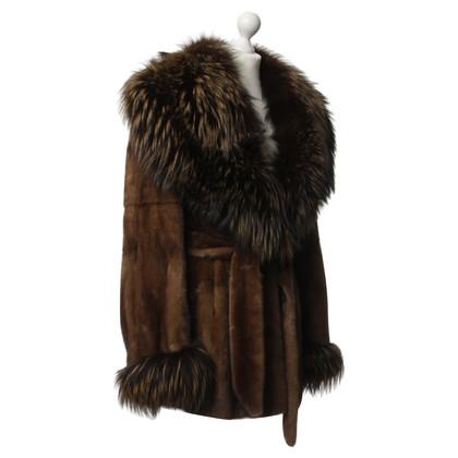 Ferre Brown mink coats