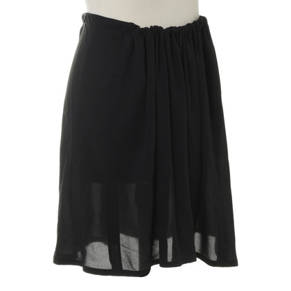 Ann Demeulemeester Silk skirt in black