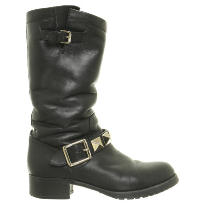 Valentino Biker boots in black