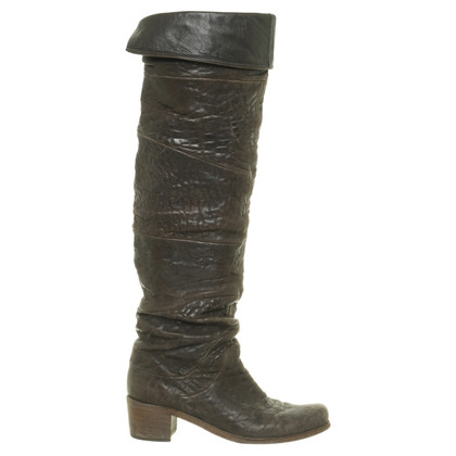 Other Designer VIC Matie - Overknees in dark brown