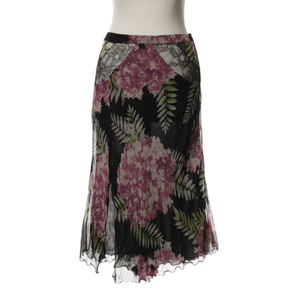 Blumarine skirt with lace inserts