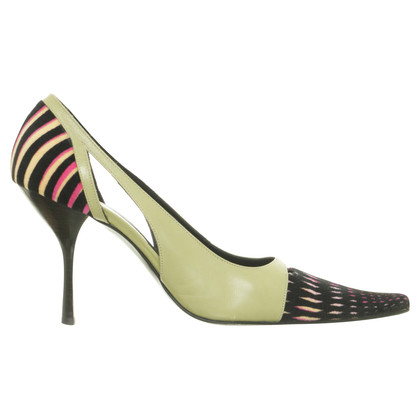 Missoni pumps met materiaal mix