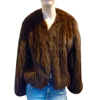 René Lezard Fur jacket with scarf