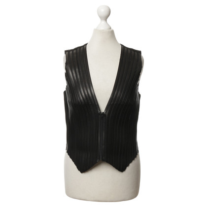 Jitrois Leather vest in black
