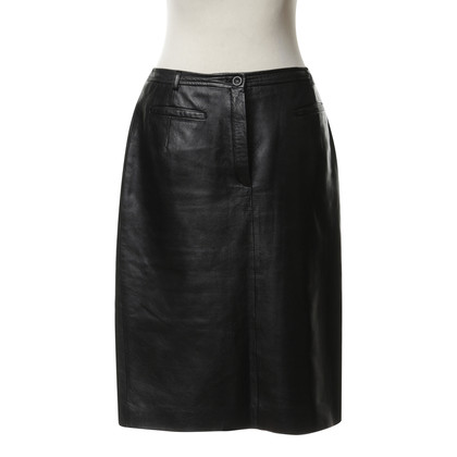 Cerruti 1881 Leather skirt in black