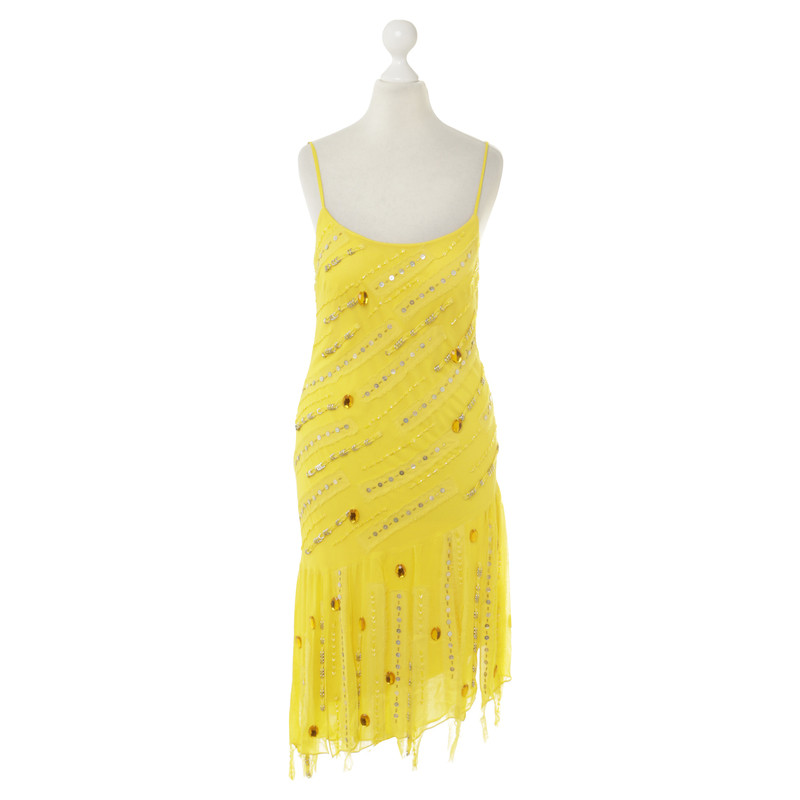 Sue Wong Silk Dress In Yellow