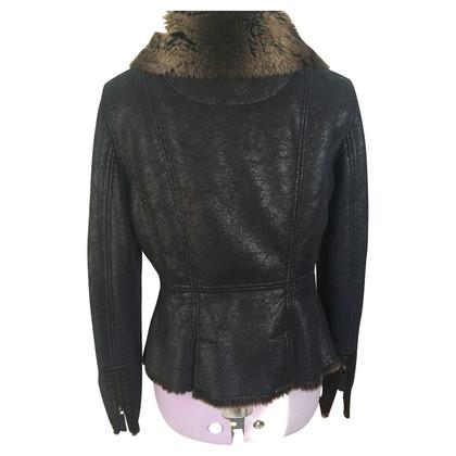 Armani Jeans Jacke mit Fellfutter