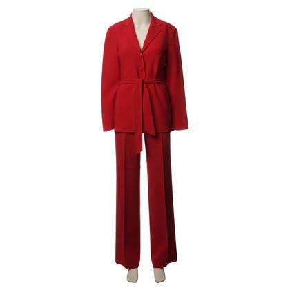 Escada Pantaloni tuta in rosso