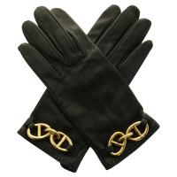 Hermès Leather gloves in black