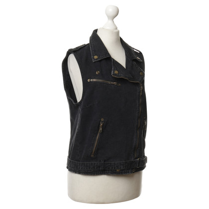 Current Elliott Gilet in denim grigio scuro