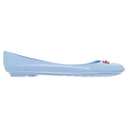 Hunter Plastic ballerinas in bright blue