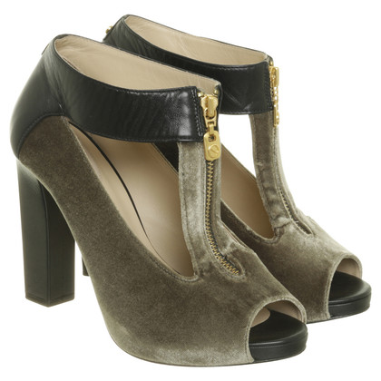 Other Designer Kat Maconie - peep-toes with velvet trim in green