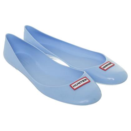 Hunter Kunststoff-Ballerinas in hellem Blau