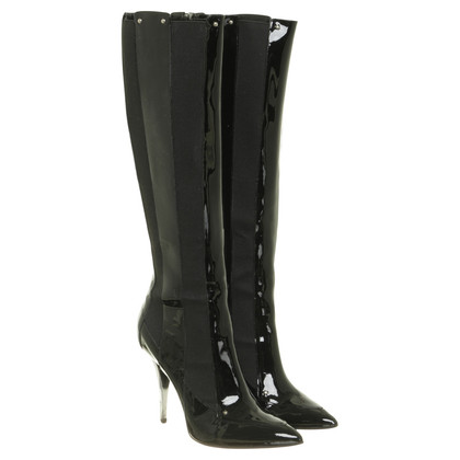Casadei Boots with patent leather details