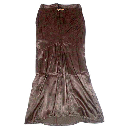 Jean Paul Gaultier Brown Satin Skirt