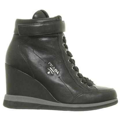 Prada Sneaker wedges in black