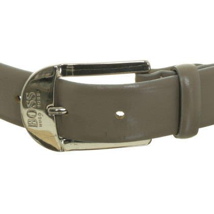 Hugo Boss Grey leather belt
