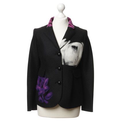 Moschino Cheap and Chic Wollblazer mit Mustern