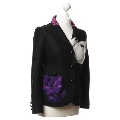 Moschino Cheap and Chic Blazer in lana con motivi