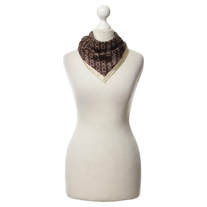 Dolce & Gabbana Zijden sjaal met logo afdrukken