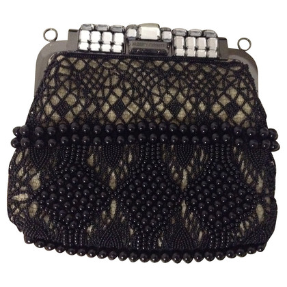 Alberta Ferretti clutch with beads pattern