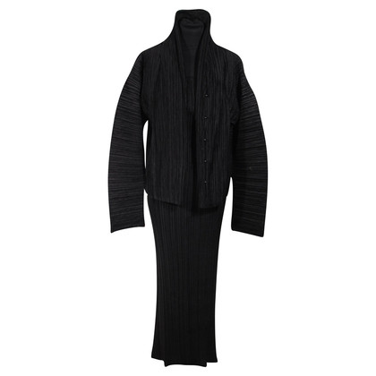 Issey Miyake Pleate Dress Suit Jacket & Maxi Dress