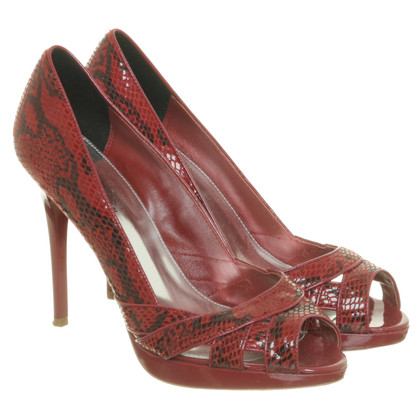 Karen Millen Peep-toes in reptile finish