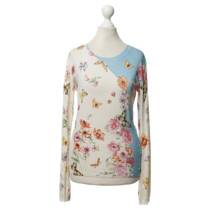 Versace top silk