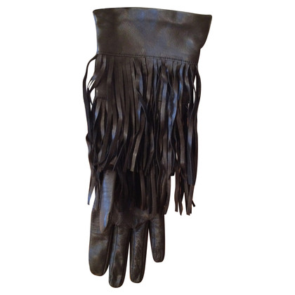 Max Mara Leather gloves with fringe