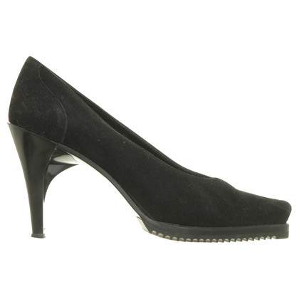 Jean Paul Gaultier Black Suede pumps