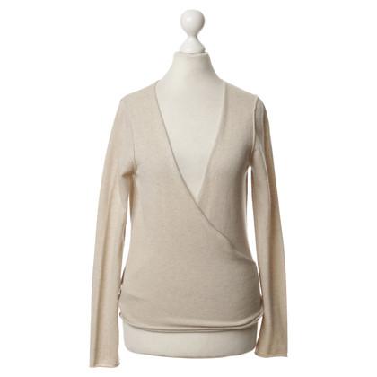 Bruno Manetti Wrap-ronde jas in beige